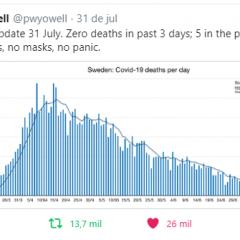 Alguns dados sobre o experimento sueco no combate à pandemia